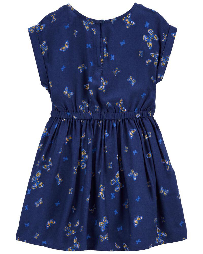 Indigo Butterfly Dress, , hi-res