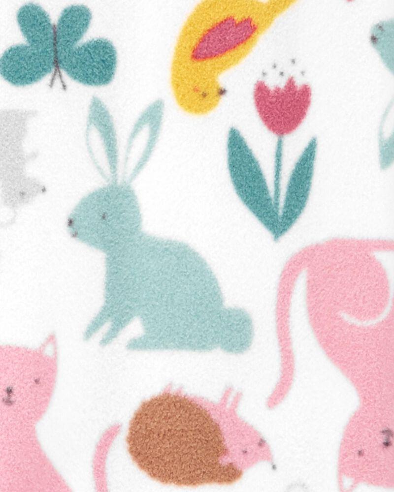 Pyjama 1 pièce à pieds en molleton motif animaux, , hi-res