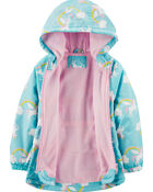 Fleece-Lined Rainbow Print Anorak, , hi-res