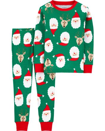 2-Piece 100% Snug Fit Cotton PJs