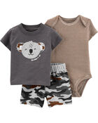 3-Piece Koala Little Short Set, , hi-res