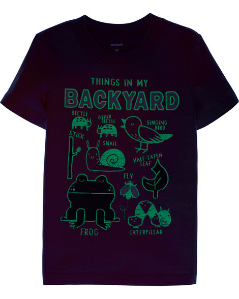 Things In My Backyard Slub Jersey Tee