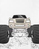 4-Piece Monster Truck 100% Snug Fit Cotton PJs, , hi-res