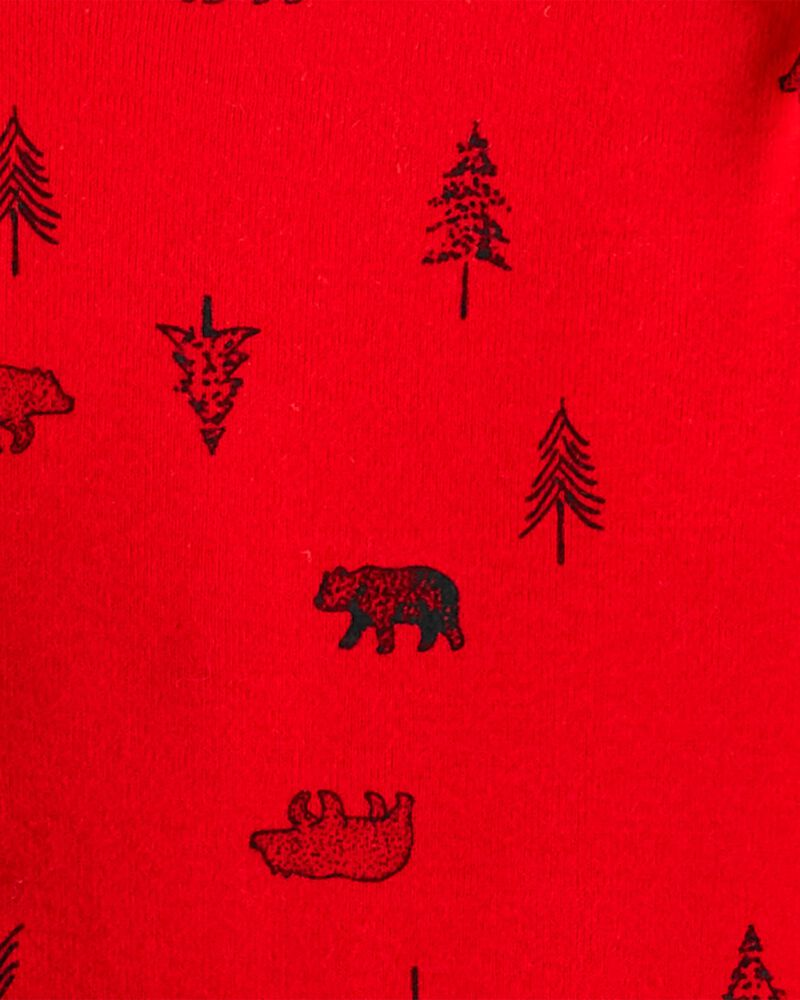Ensemble 3 pièces haut à capuchon ourson, , hi-res