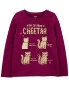 Cheetah Jersey Tee, , hi-res