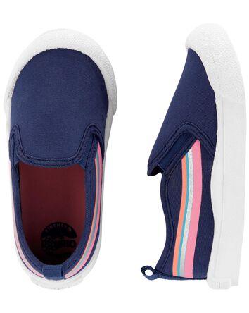 Chaussures à enfiler rayées rétro