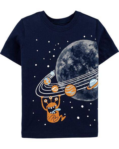 T-shirt en jersey planète Saturne
