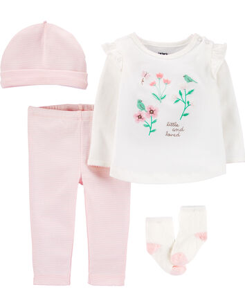 4-Piece Floral Take-Me-Home Set