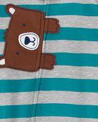Pyjama 1 pièce de coupe ample à pieds ourson, , hi-res
