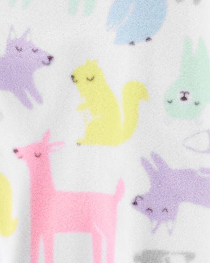 1-Piece Woodland Creatures Fleece Footie PJs, , hi-res