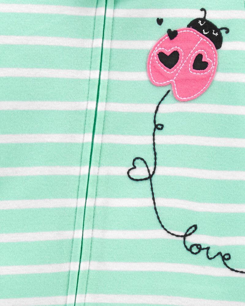 1-Piece Ladybug 100% Snug Fit Cotton Footie PJs, , hi-res