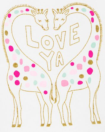 Glitter Giraffe Jersey Tee