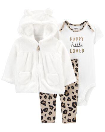 3-Piece Leopard Little Jacket Set