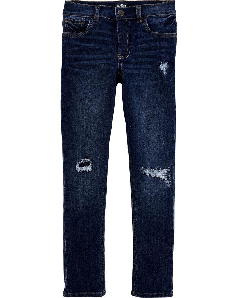 Stretch Rip and Repair Jeans - Skinny Fit, , hi-res