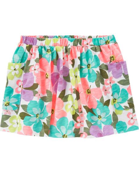 Floral Pocket Skirt