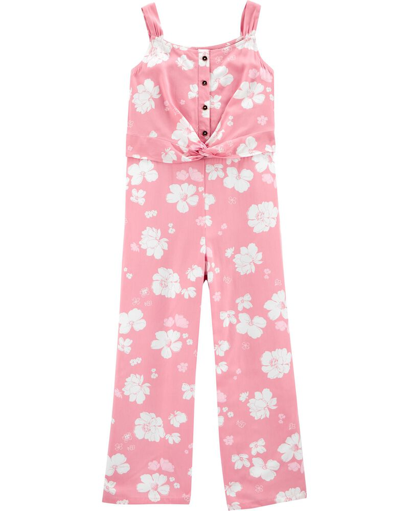 Floral Viscose Jumpsuit, , hi-res