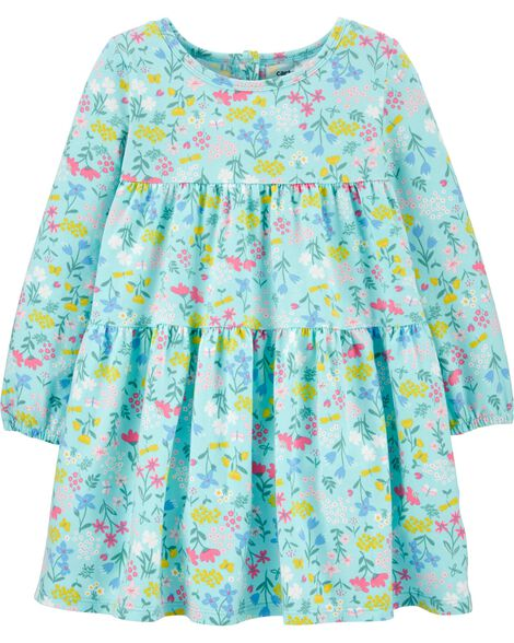 Floral Tiered Jersey Dress