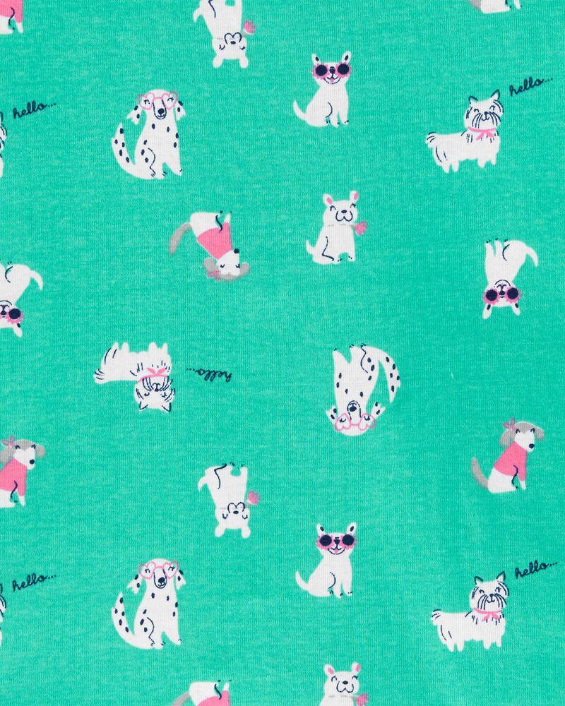 Pyjama 4 pièces en coton ajusté à chien, , hi-res