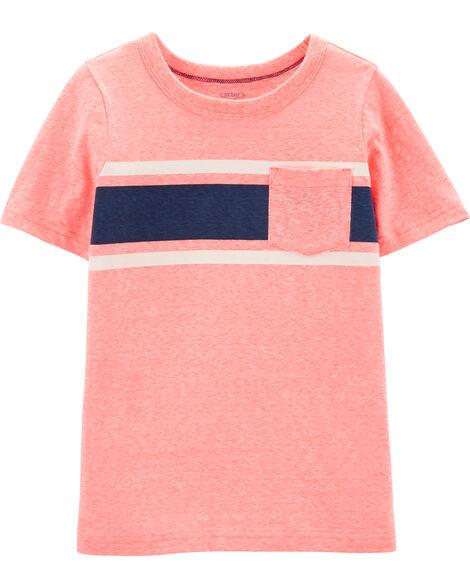 T-shirt en jersey de couleurs contrastées