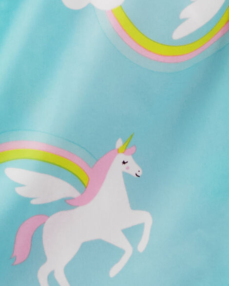 Fleece-Lined Rainbow Unicorn Print Anorak