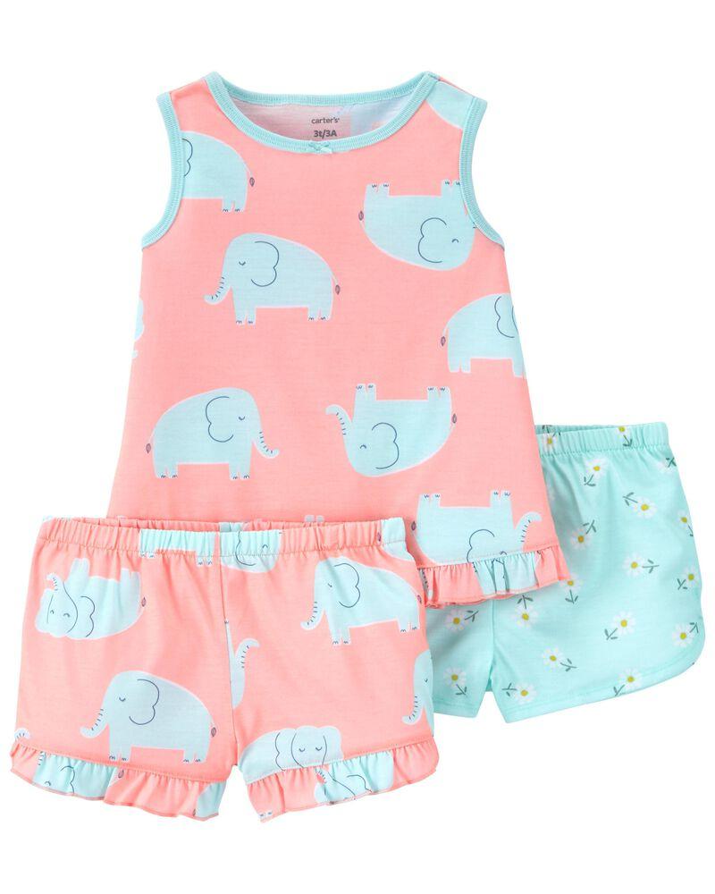 Pyjama 3 pièces de coupe ample à éléphant, , hi-res