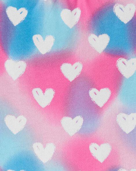 T-shirt volanté en jersey avec cœur arc-en-ciel
