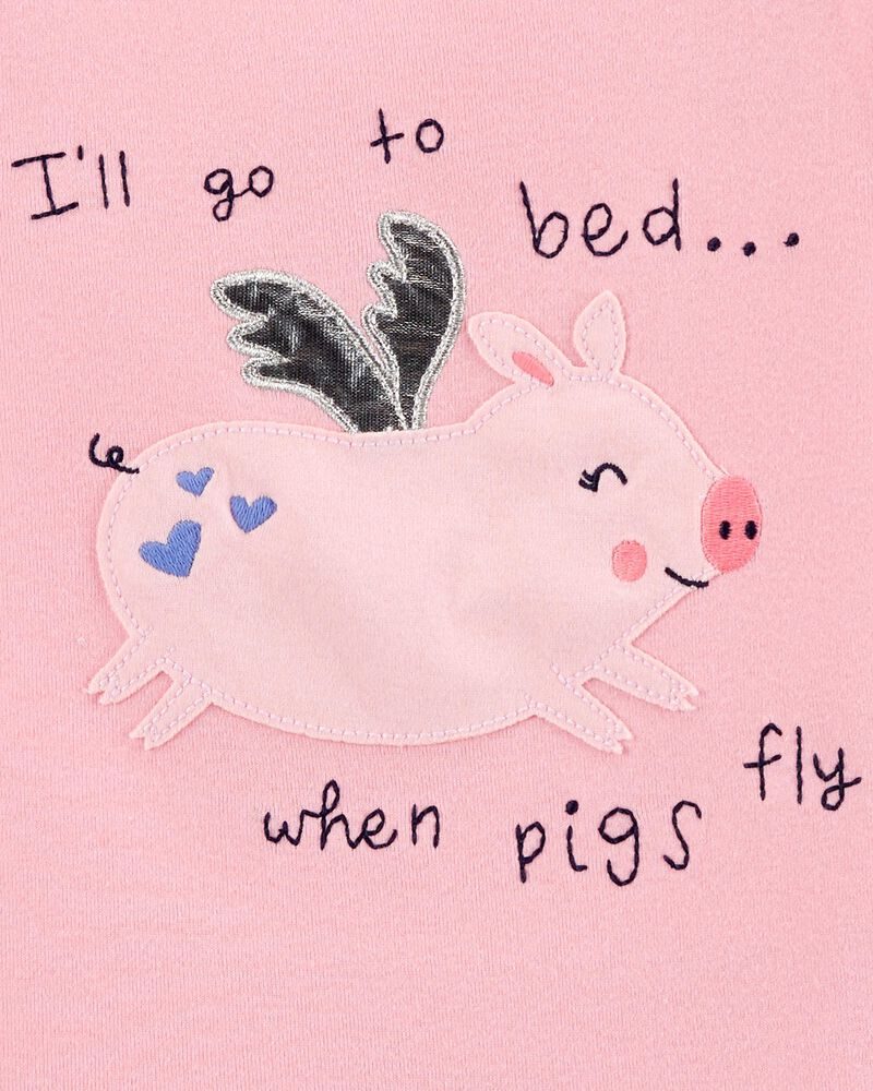 4-Piece Pig 100% Snug Fit Cotton PJs, , hi-res