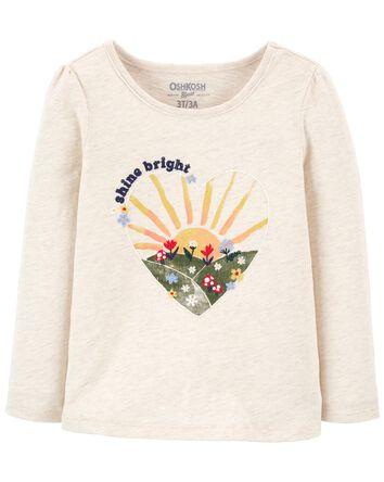 T-shirt brodé à soleil