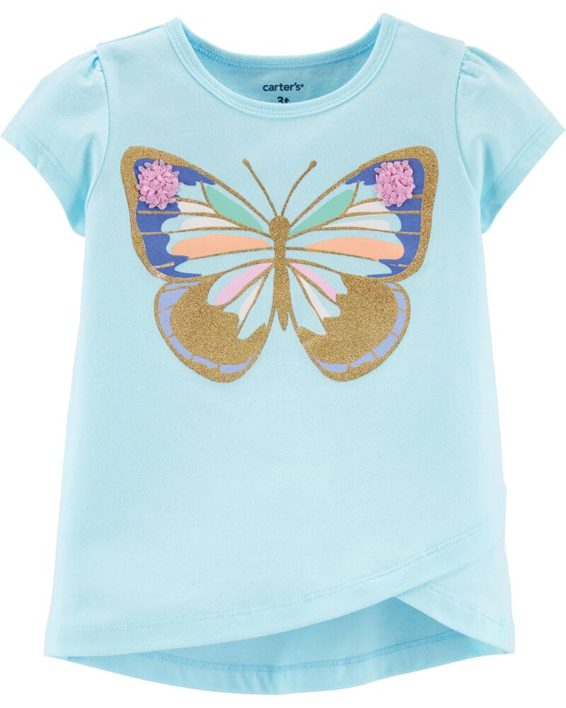 Glitter Butterly Tulip Jersey Tee, , hi-res