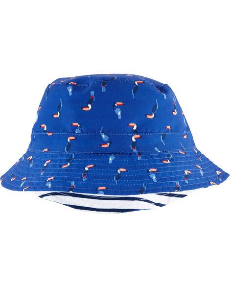 Chapeau cloche réversible à toucan