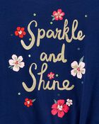 T-shirt à nœud devant Sparkle and Shine , , hi-res