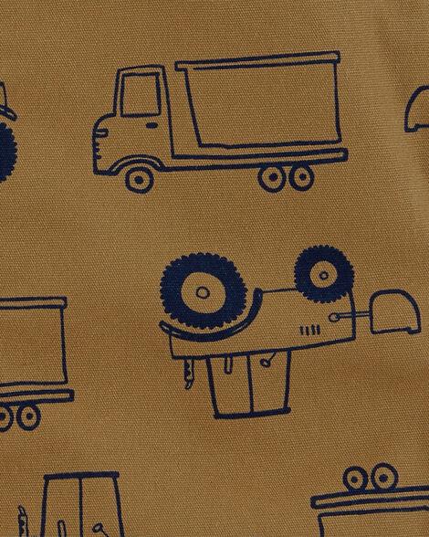 Ensemble 2 pièces t-shirt et salopette courte à camion
