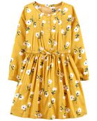 Floral Sateen Dress, , hi-res