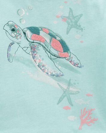 Sea Turtle Boxy Crop Top