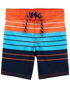 Striped Swim Trunks, , hi-res