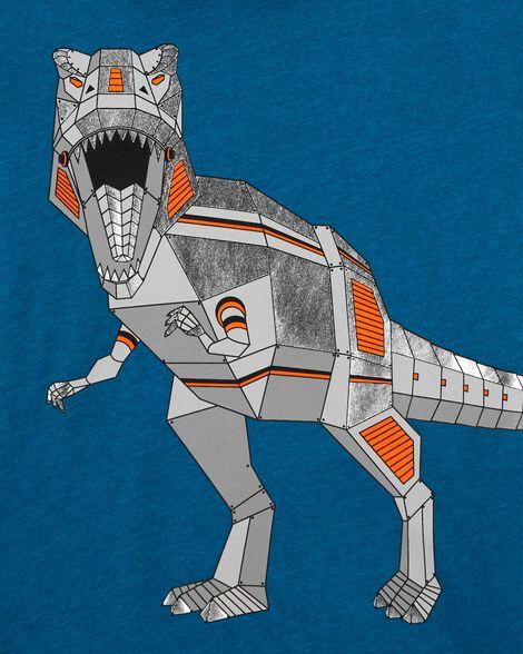 T-shirt à capuchon en jersey dinosaure