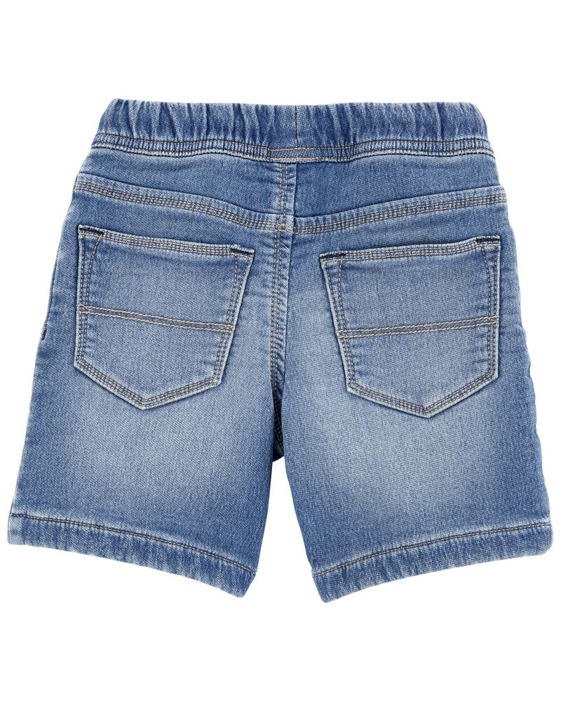 Pull-On Knit Denim Shorts, , hi-res
