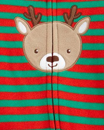Christmas Reindeer Zip-Up Fleece Sl...