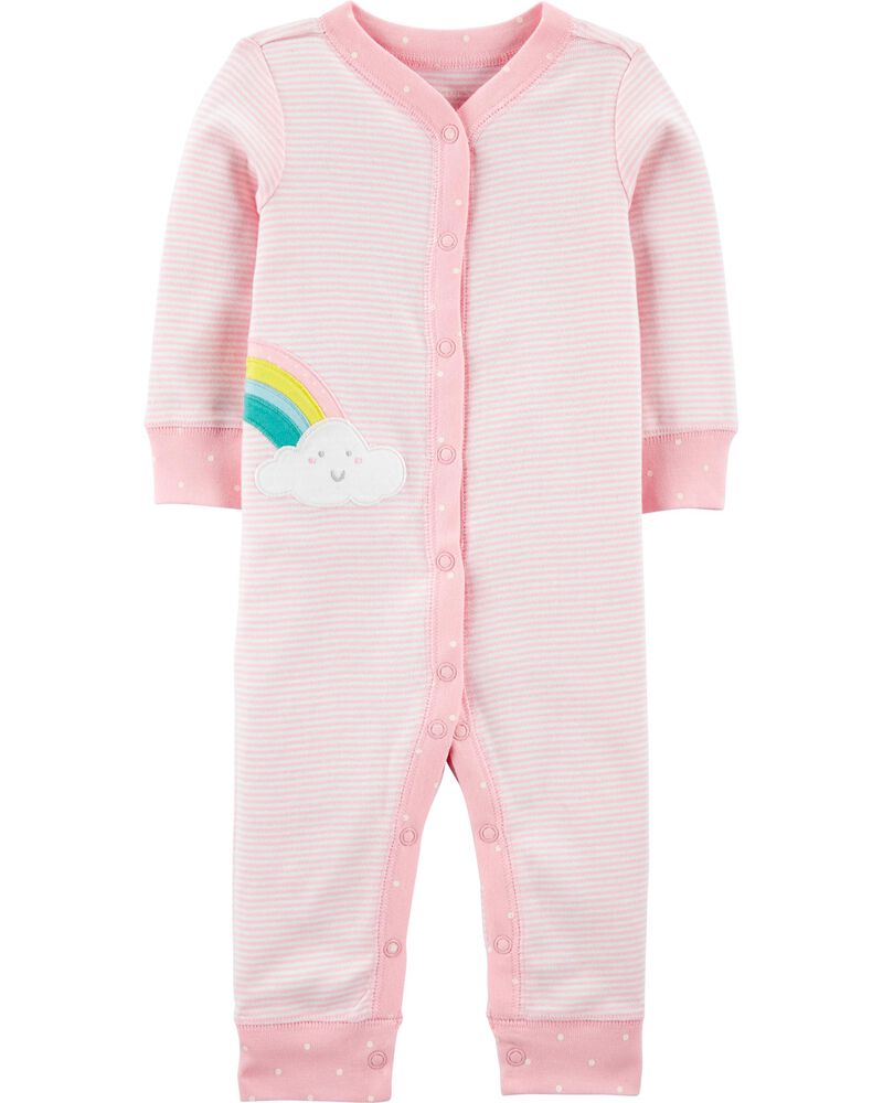 Rainbow Snap-Up Cotton Footless Sleep & Play, , hi-res