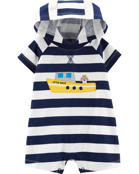 Steam Boat Hooded Romper