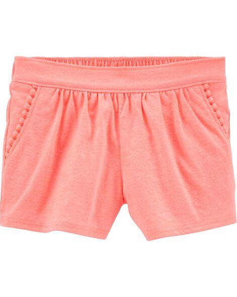 Neon Pom Pom Shorts
