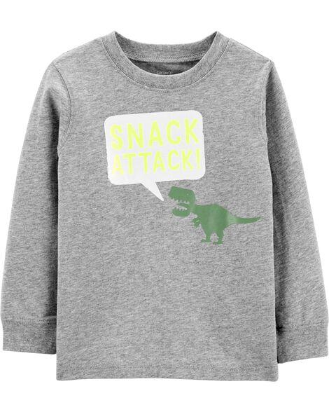 T-shirt en jersey à dinosaure Snack Attack