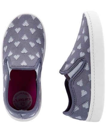 Chaussures à enfiler avec cœur