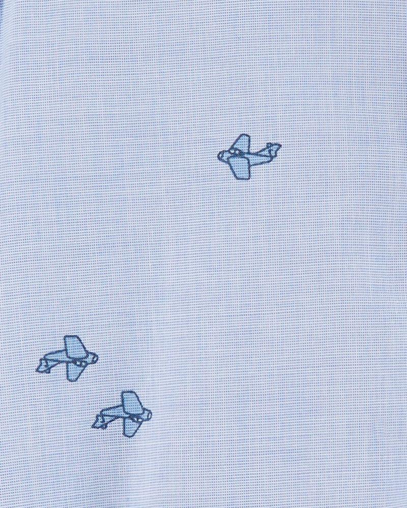 Airplane Button-Front Bodysuit, , hi-res