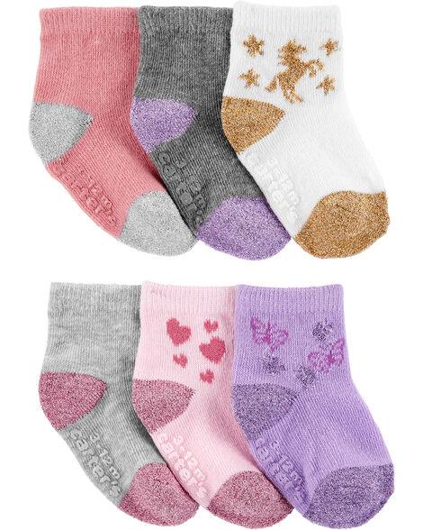 6-Pack Unicorn Socks