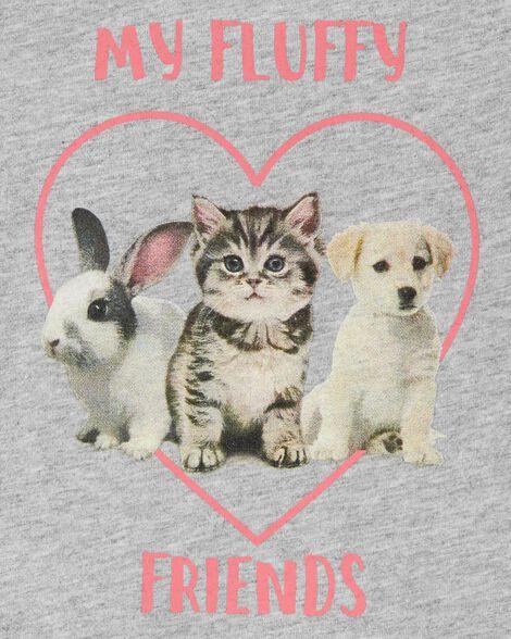 Fluffy Friends Peplum Top