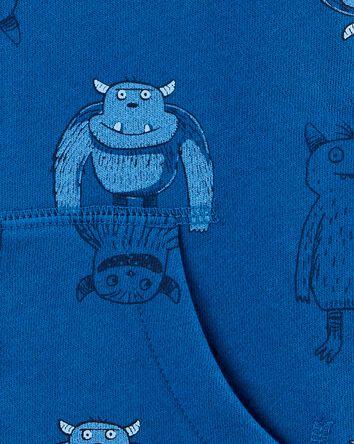 Monster Zip-Up Fleece-Lined Hoodie