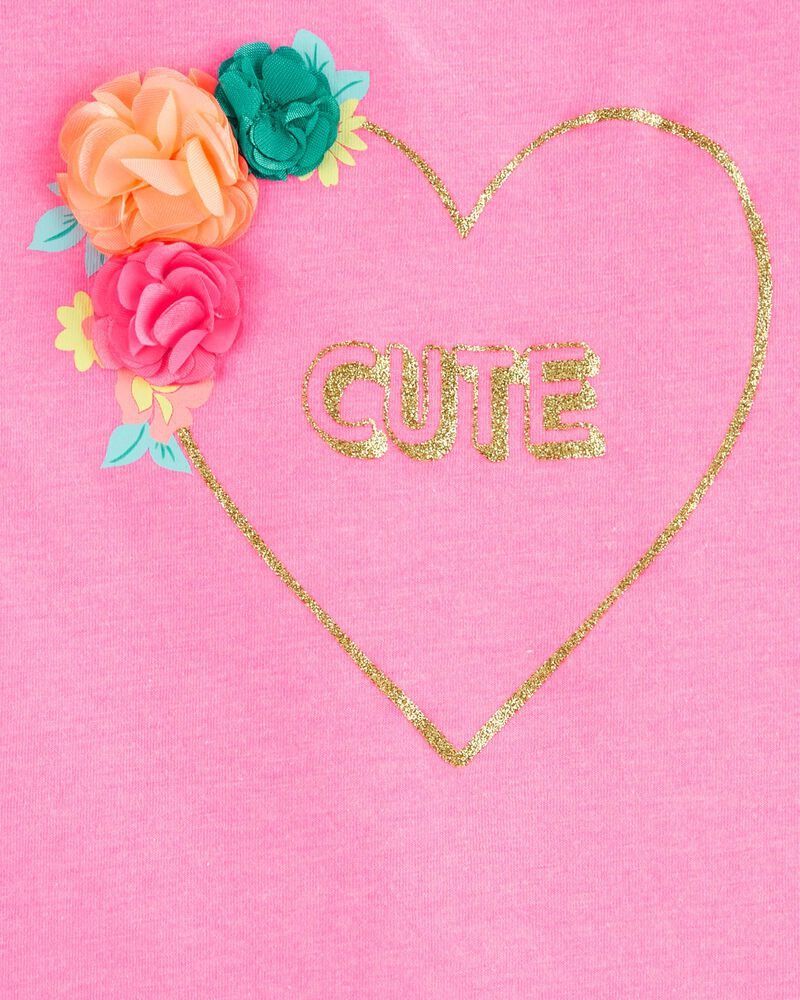 T-shirt à fleurs CUTE, , hi-res