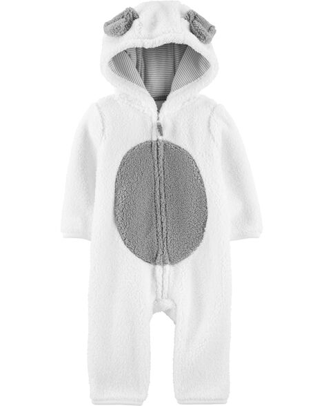 Dog Hooded Sherpa Jumpsuit