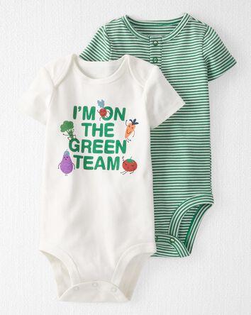 2-Pack Organic Cotton Green Team Bo...